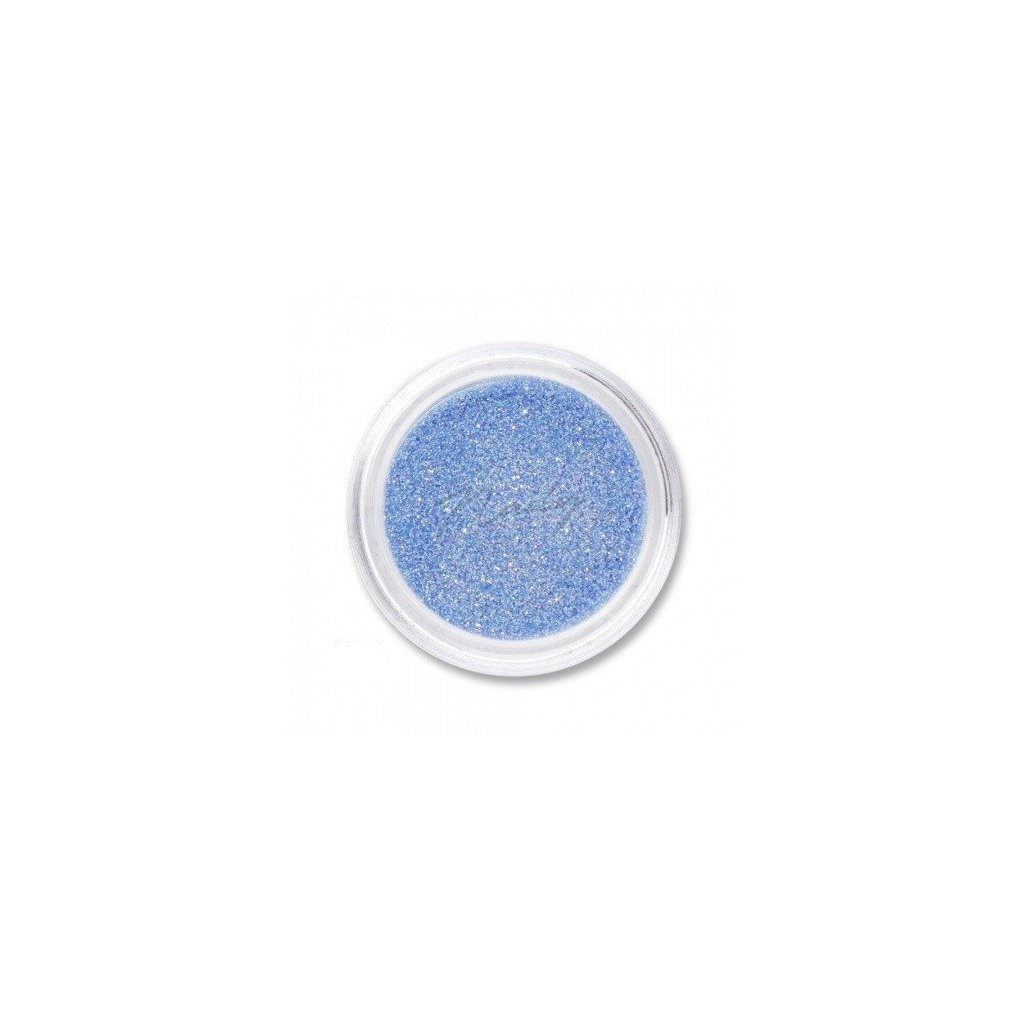 Modré glitre na zdobenie nechtov