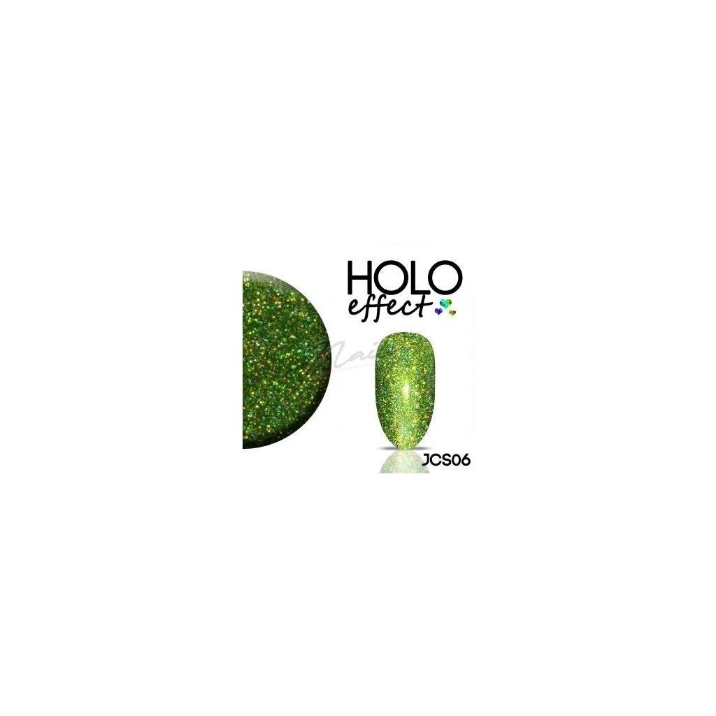 Zelené holografické glitre