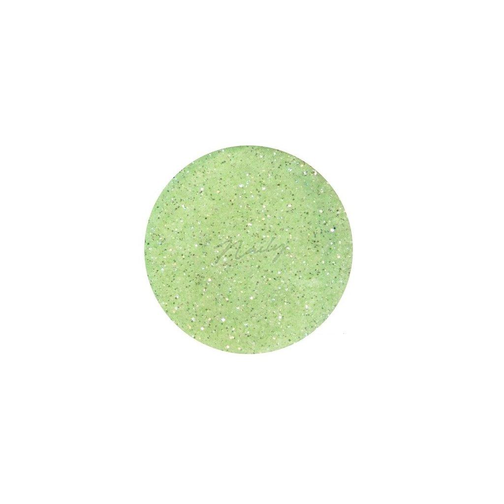 Pastelovo zelené glitre na nechty