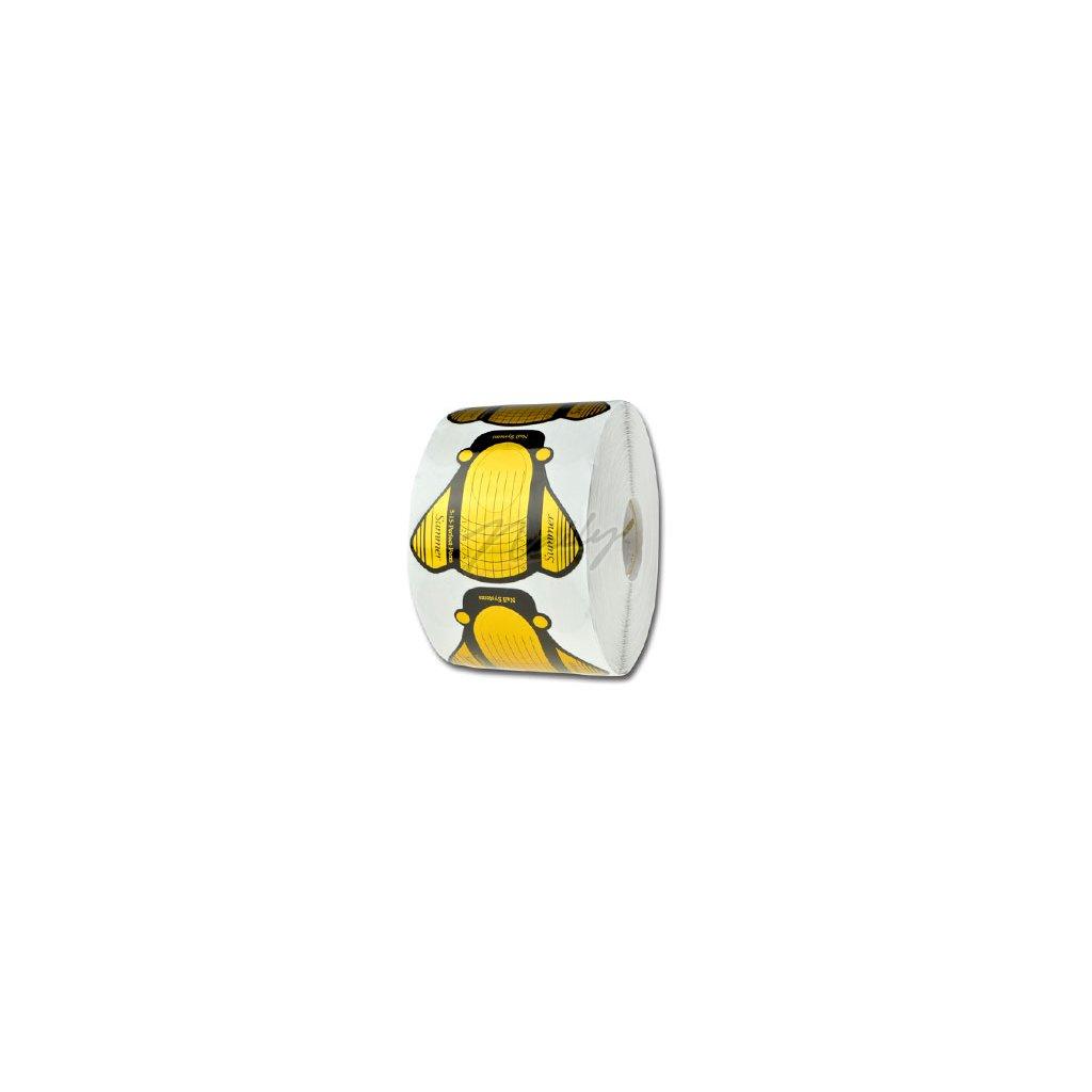Zlaté šablóny na modelovanie nechtov 500ks