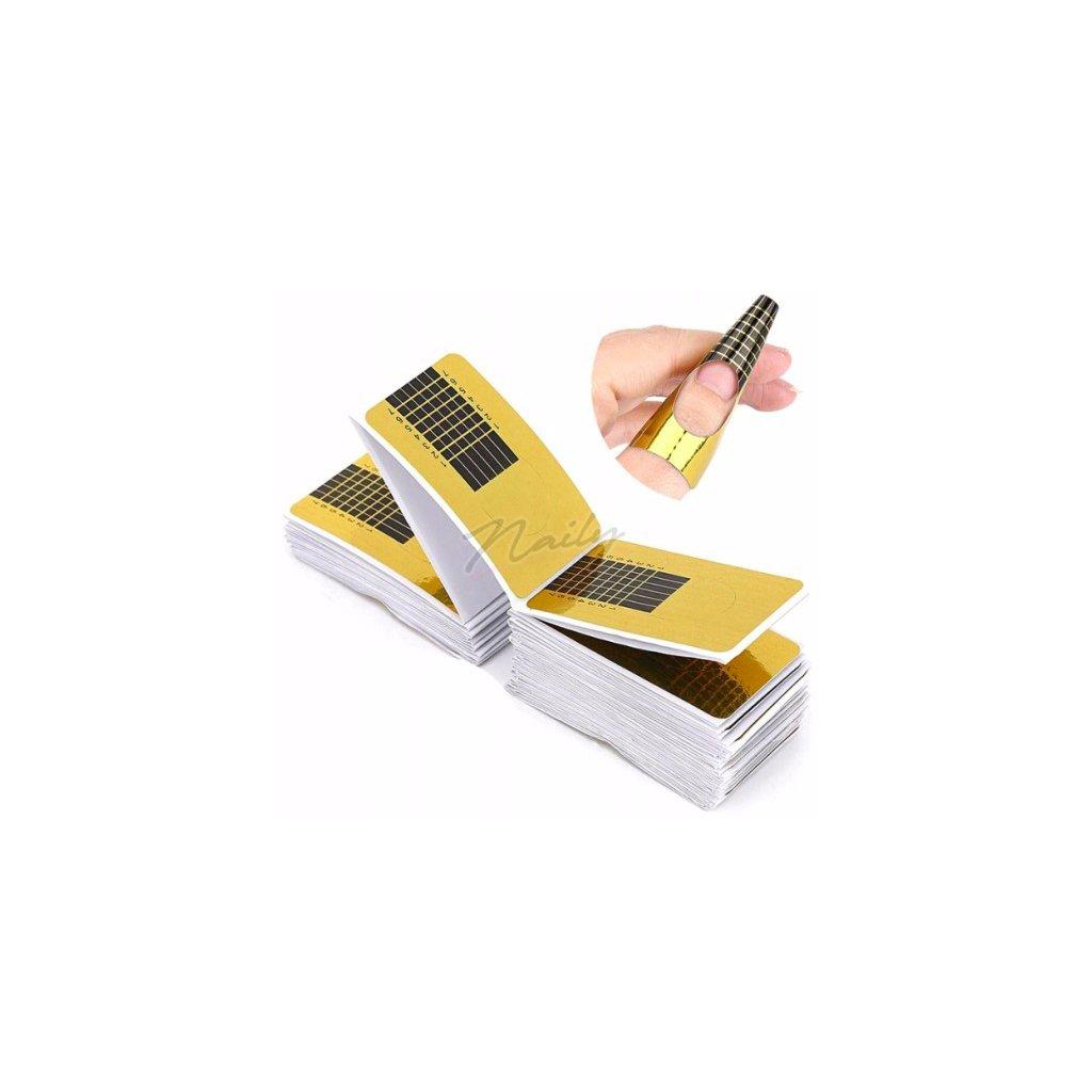 Zlaté šablóny na modelovanie nechtov 50ks
