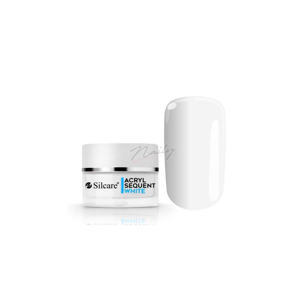 Akrylový prášok Sequent Lux White 12g