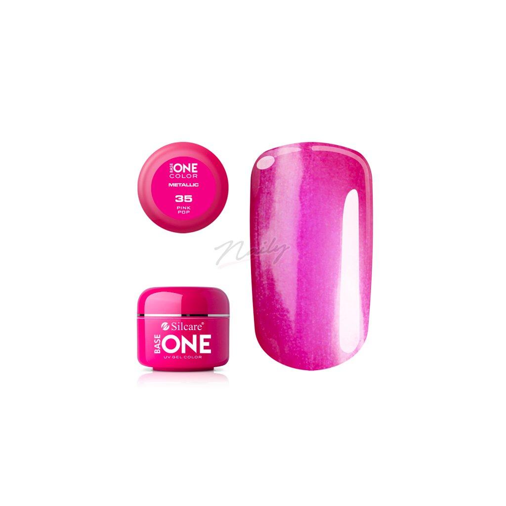 base one metallic 35 pink pop