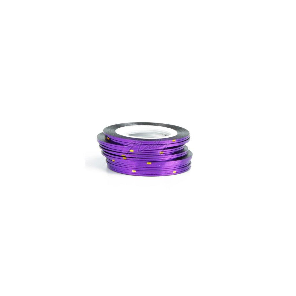 fialová páska na nechty