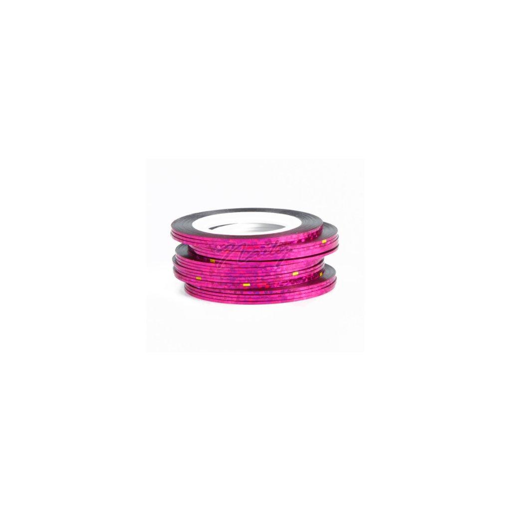 páska na nechty v ružovej farbe