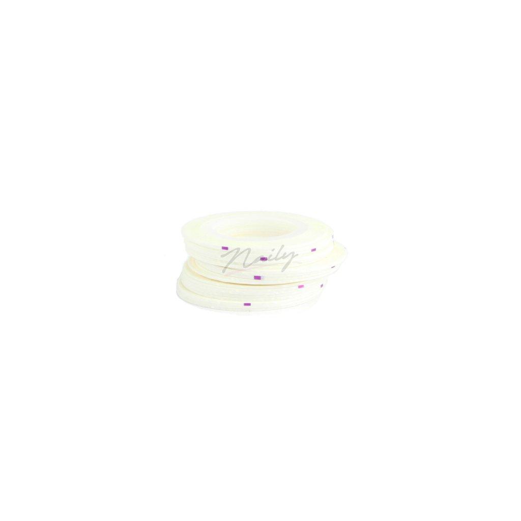 Biela zdobiaca páska na nechty