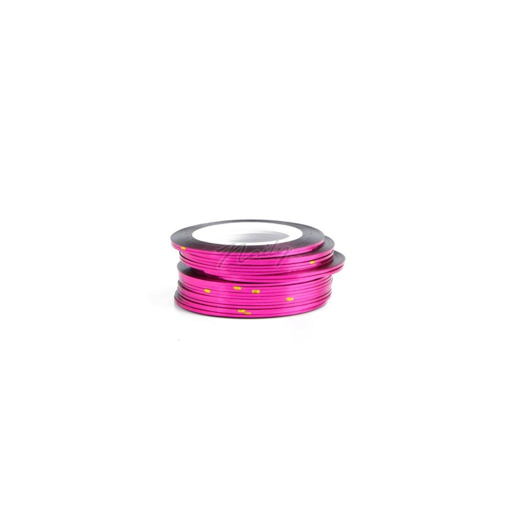 Ružová ozdobná páska na nechty