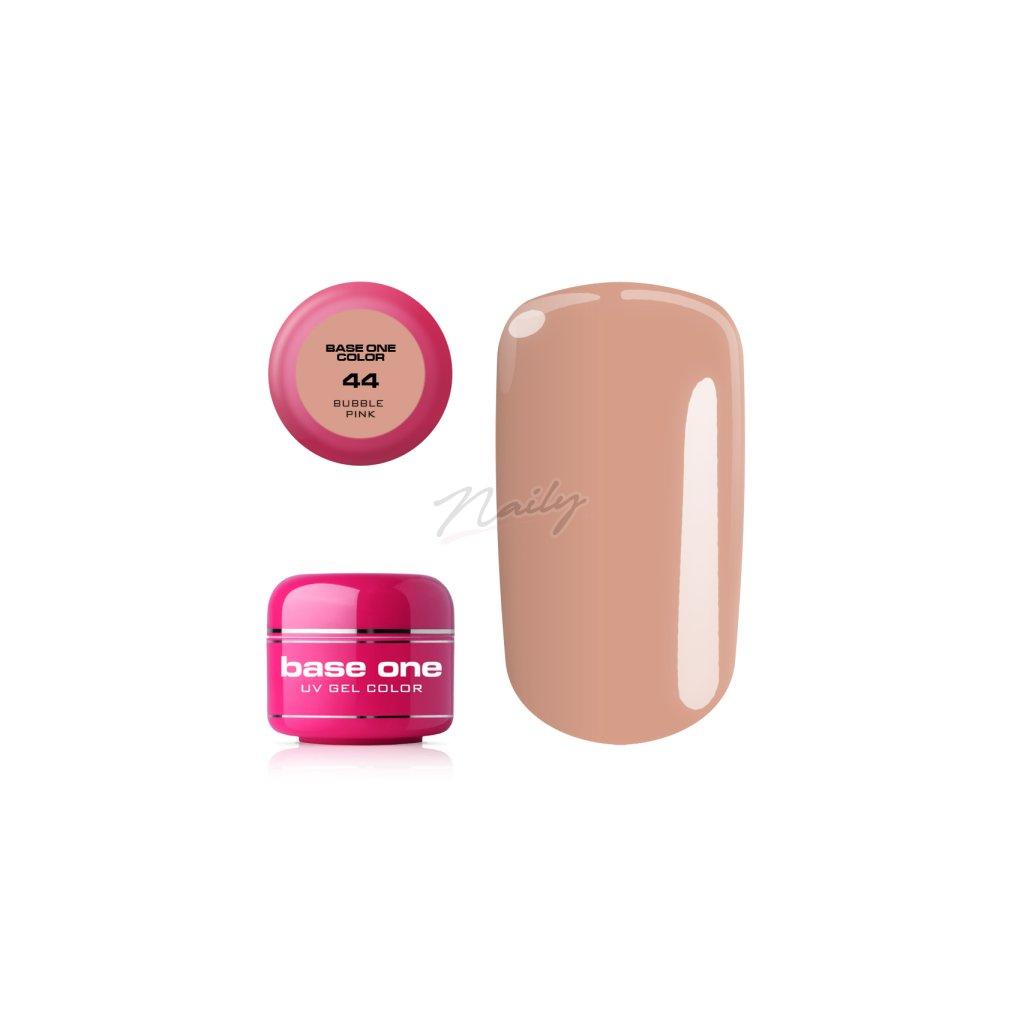 Farebný UV gél v ružovej nude farbe.