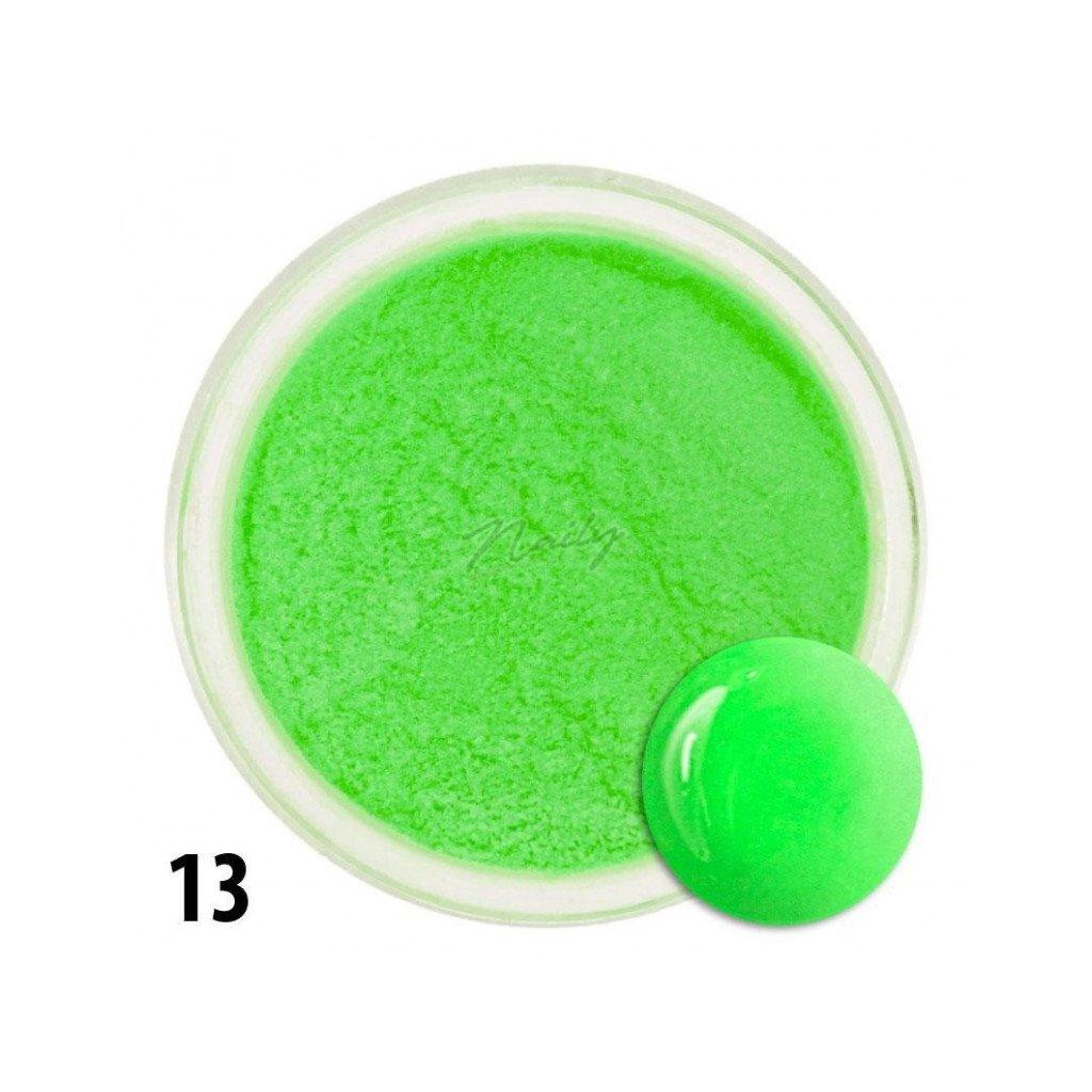 Farebný akrylový prášok neónovo zelený