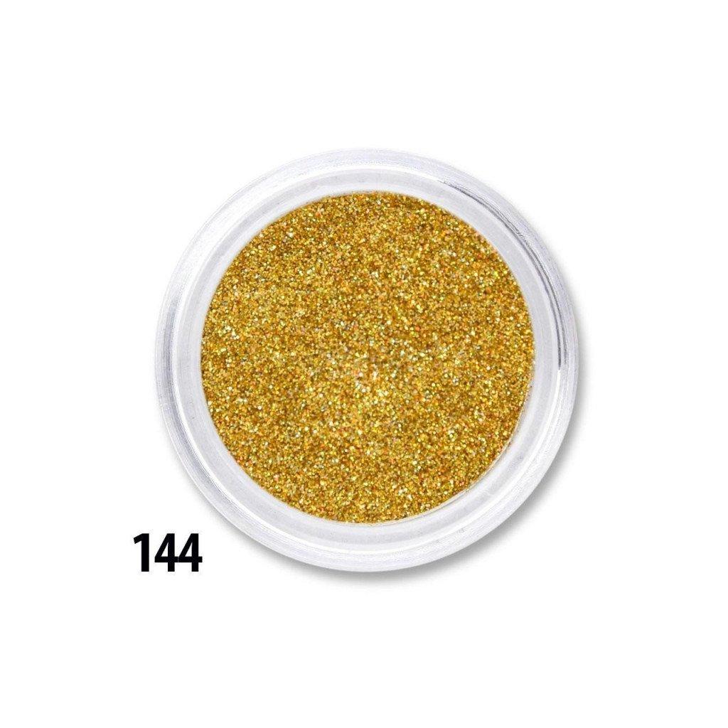 zlate glitre na nechty