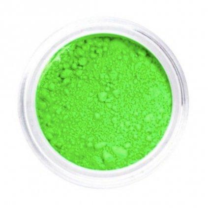 Neónovo zelený pigmentový prášok na nechty