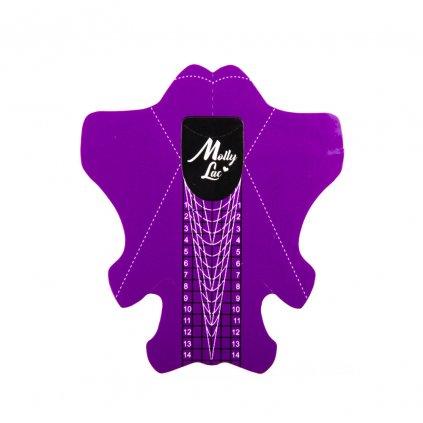 Šablóny na modelovanie nechtov Molly Lac 500ks Stiletto 0