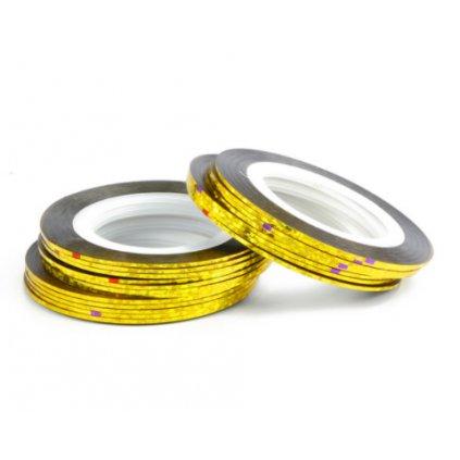 Zlatá zdobiaca páska na nechty