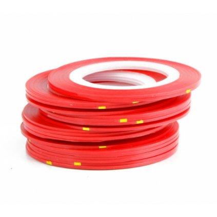 Červená ozdobná páska na nechty