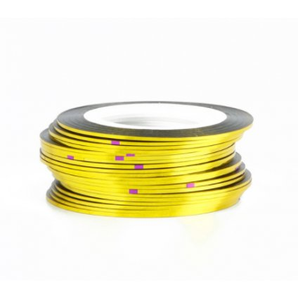 Zlatá ozdobná páska na nechty
