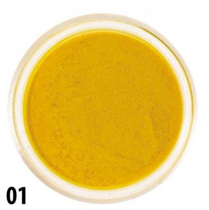 Žltý akrylový prášok