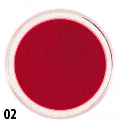 Červený akrylový prášok