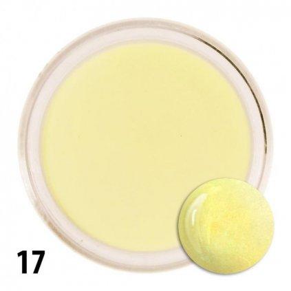 Pastelovo žltý akrylový prášok