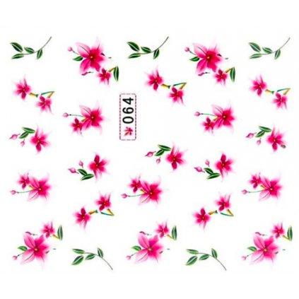 Vodolepky na zdobenie nechtov - kvety