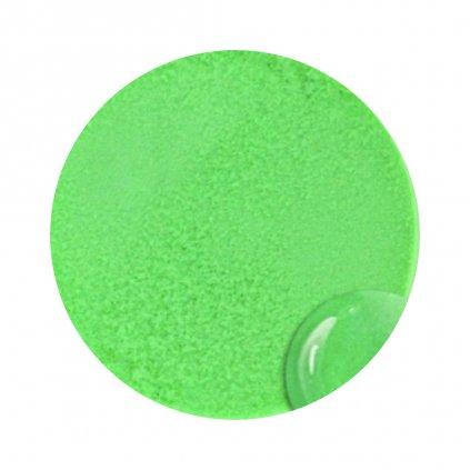 Neónovo zelený akrylový prášok