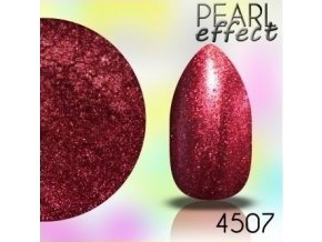 Pearl Effect perlový efekt na nechtoch červený