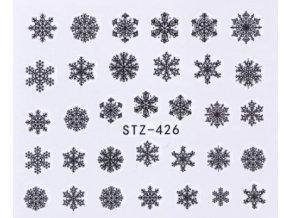 Vodolepky na zdobenie nechtov biele snehové vločky.
