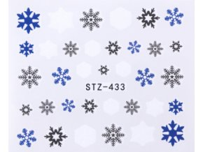 vodolepky na nechty snehove vlocky 3