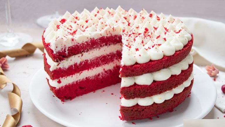 Červený Velvet koláč