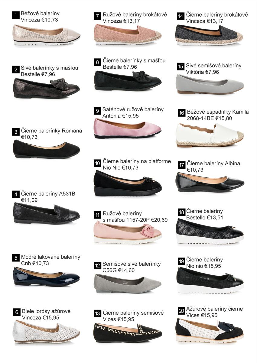 Baleríny - Nová kolekcia obuvi jar leto 2018
