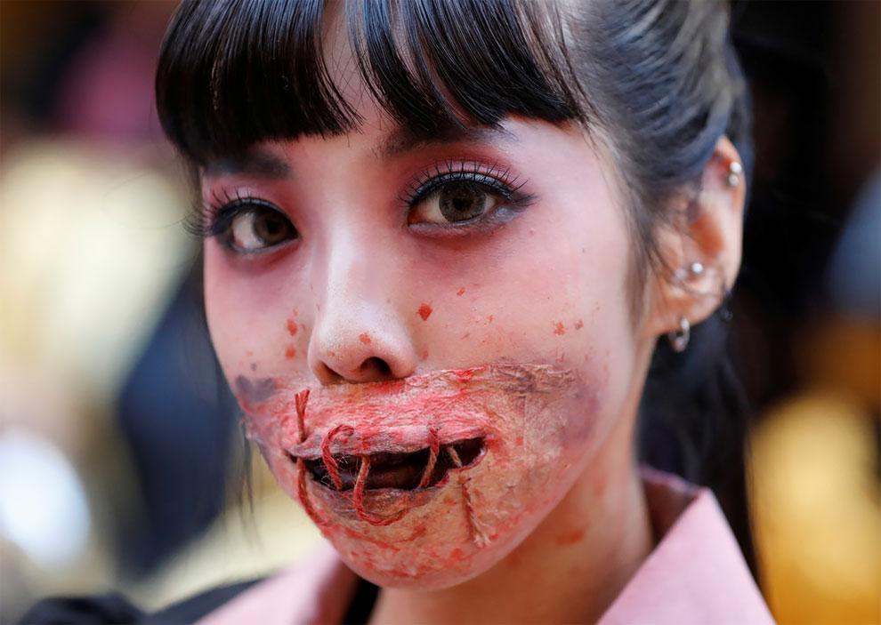 V japonskom meste Kawasaki sa konal najväčší Halloweensky sprievod.