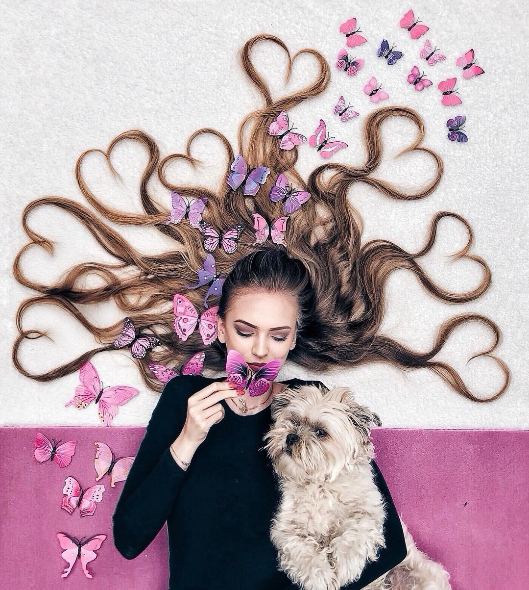 Mladá Holanďanka Krissy Elisabeth vytvára úžasné fotografie, v ktorých vykresľuje krásu jej dlhých vlasov