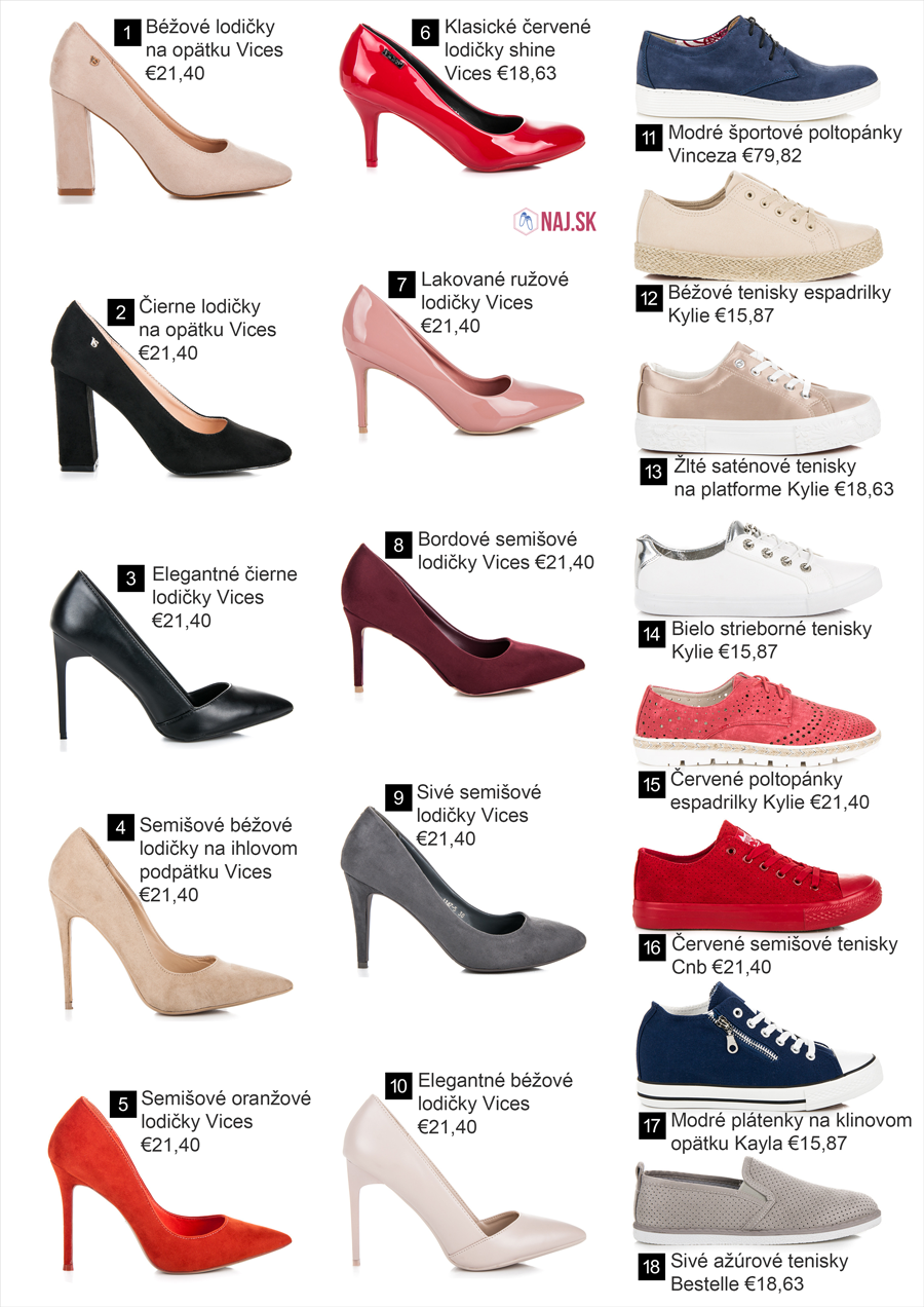 Lodičky a poltopánky z novej kolekcie obuvi