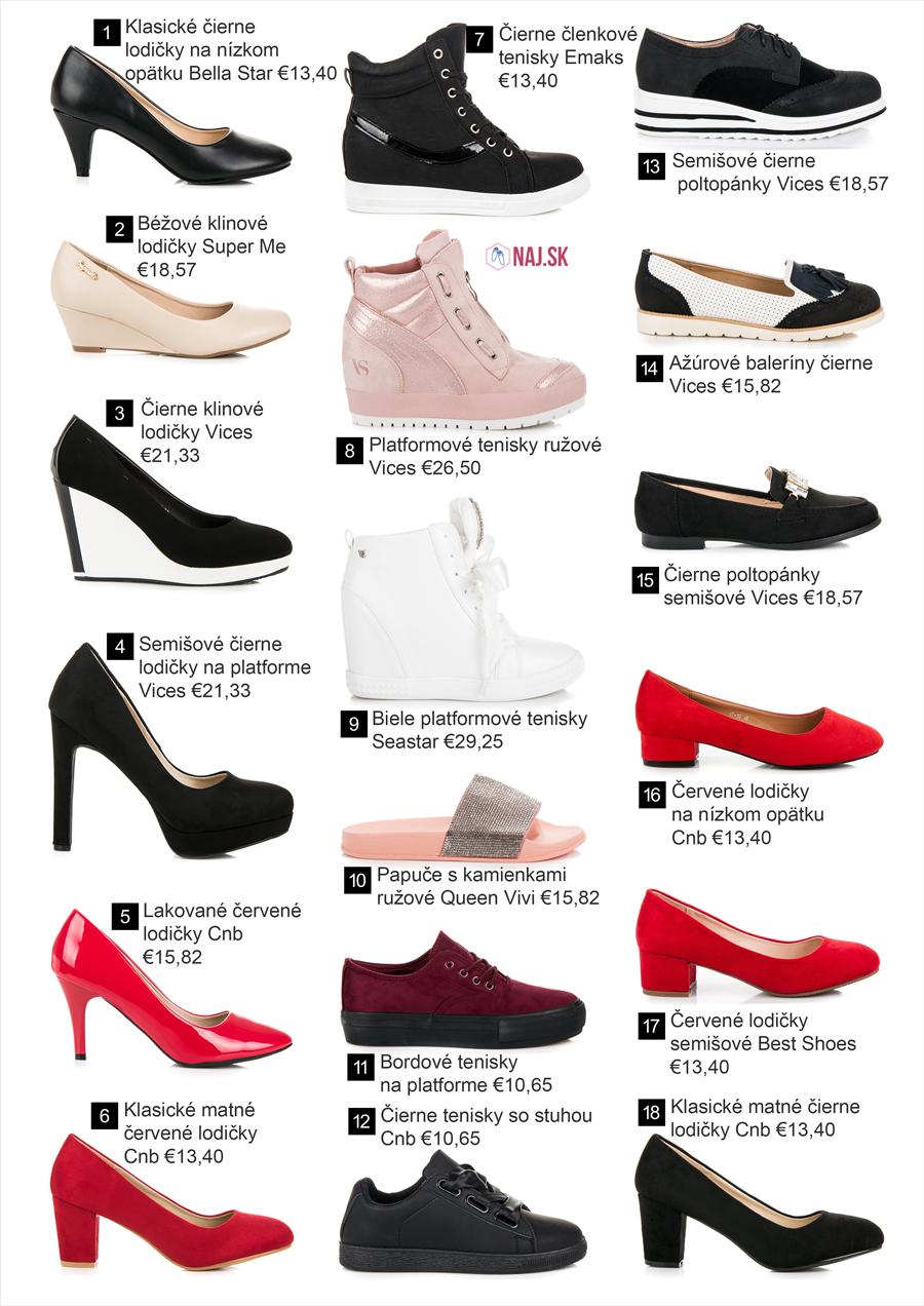 Najobľúbenejšie topánky z kolekcie jar leto 2018
