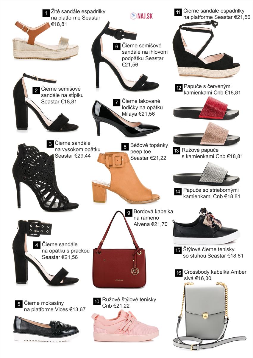 Topánky a kabelky, kolekcia jar leto 2018
