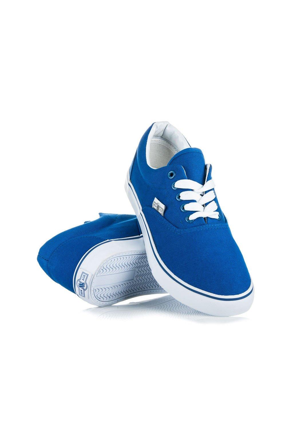 Plátené tenisky modré New Age Plátené tenisky modré New Age ... 70097948565
