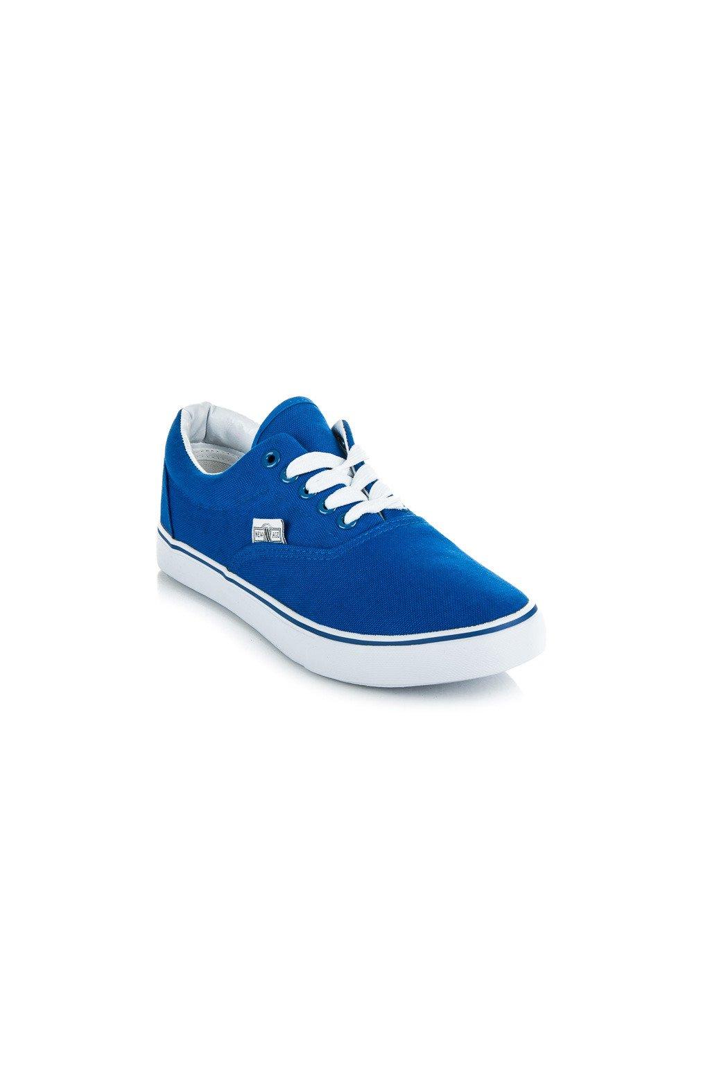... Plátené tenisky modré New Age ... 9daf8ef655b