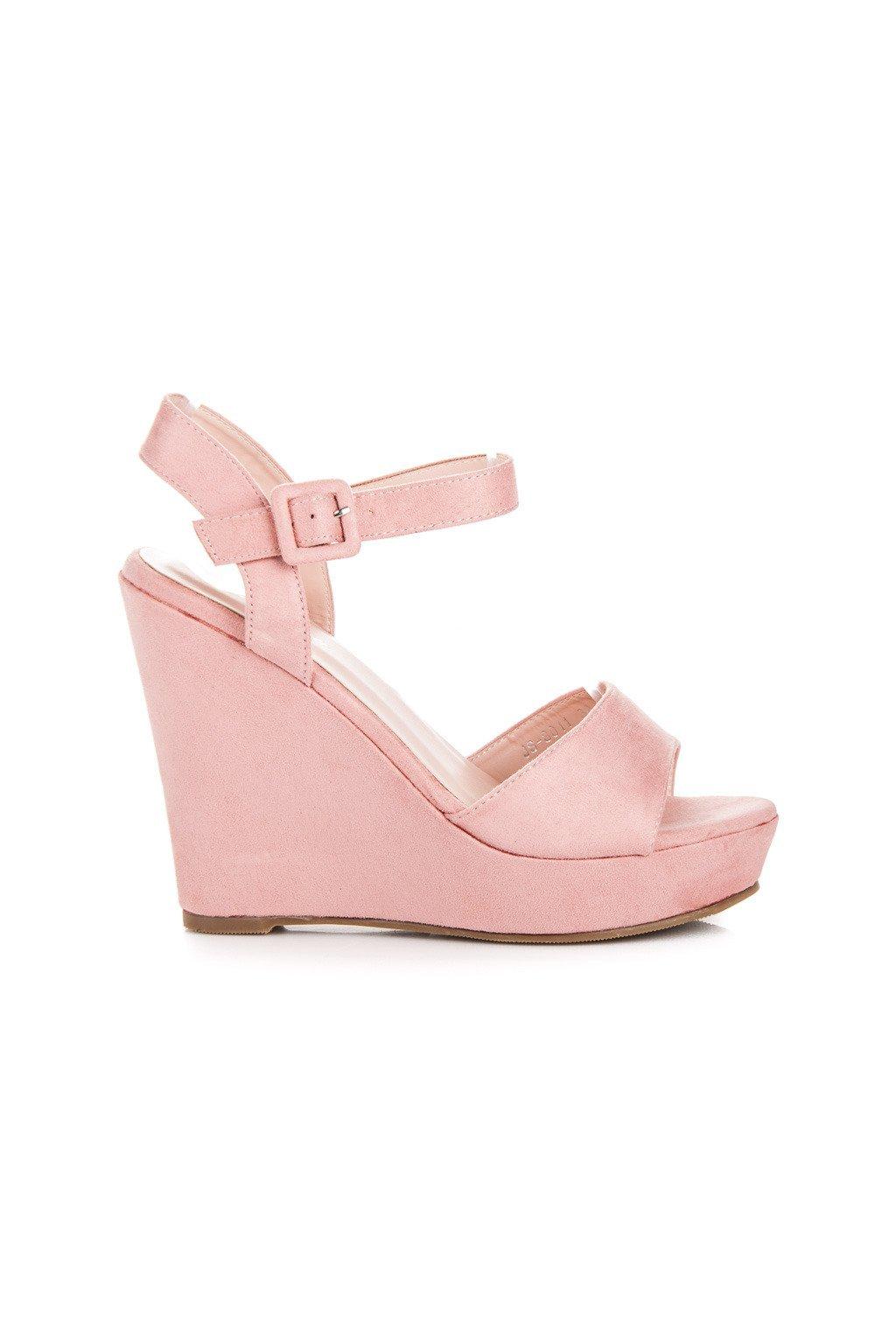 Ružové sandále na platforme JS8011P ada574e844c