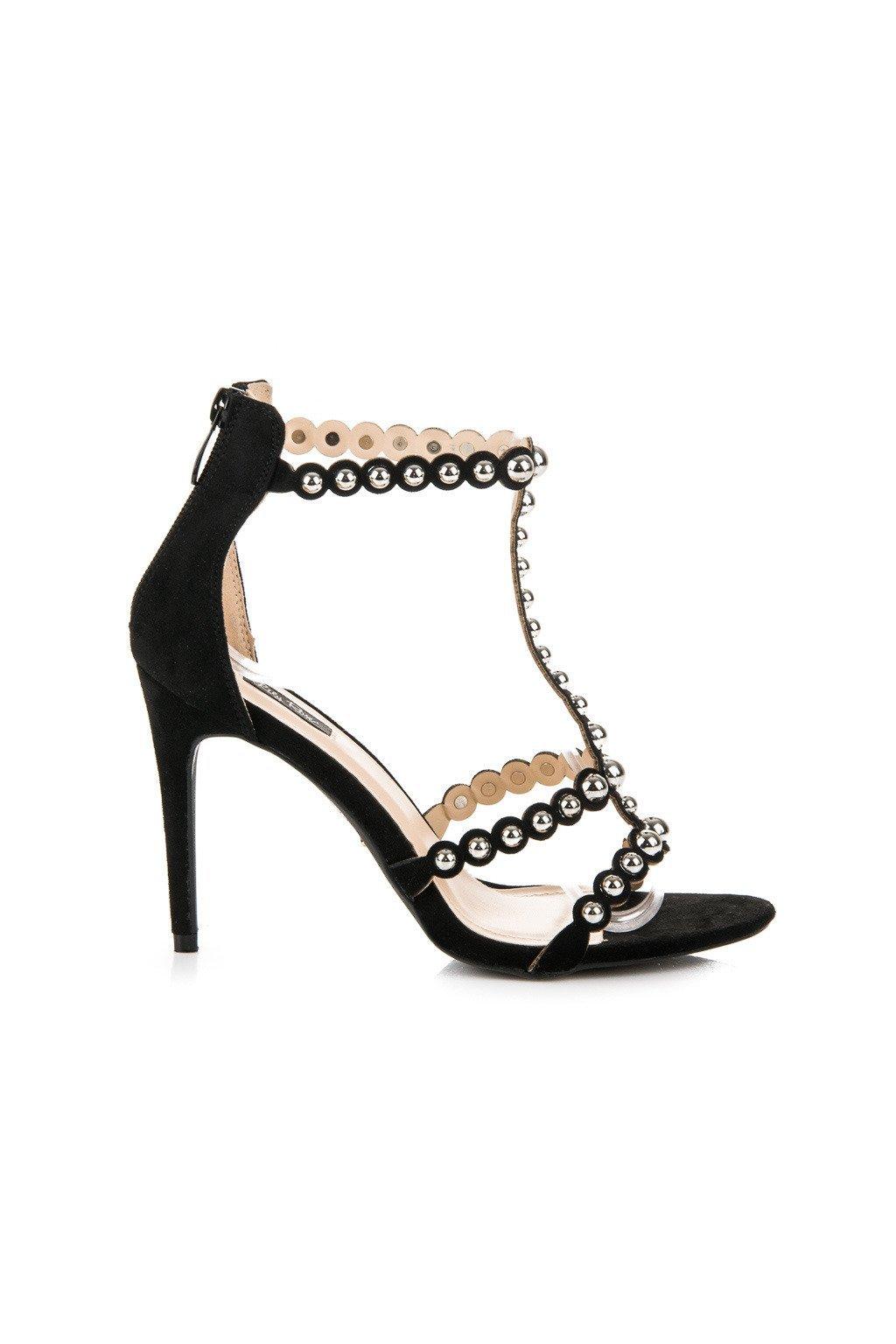 Čierne semišové sandále GD5150-1B