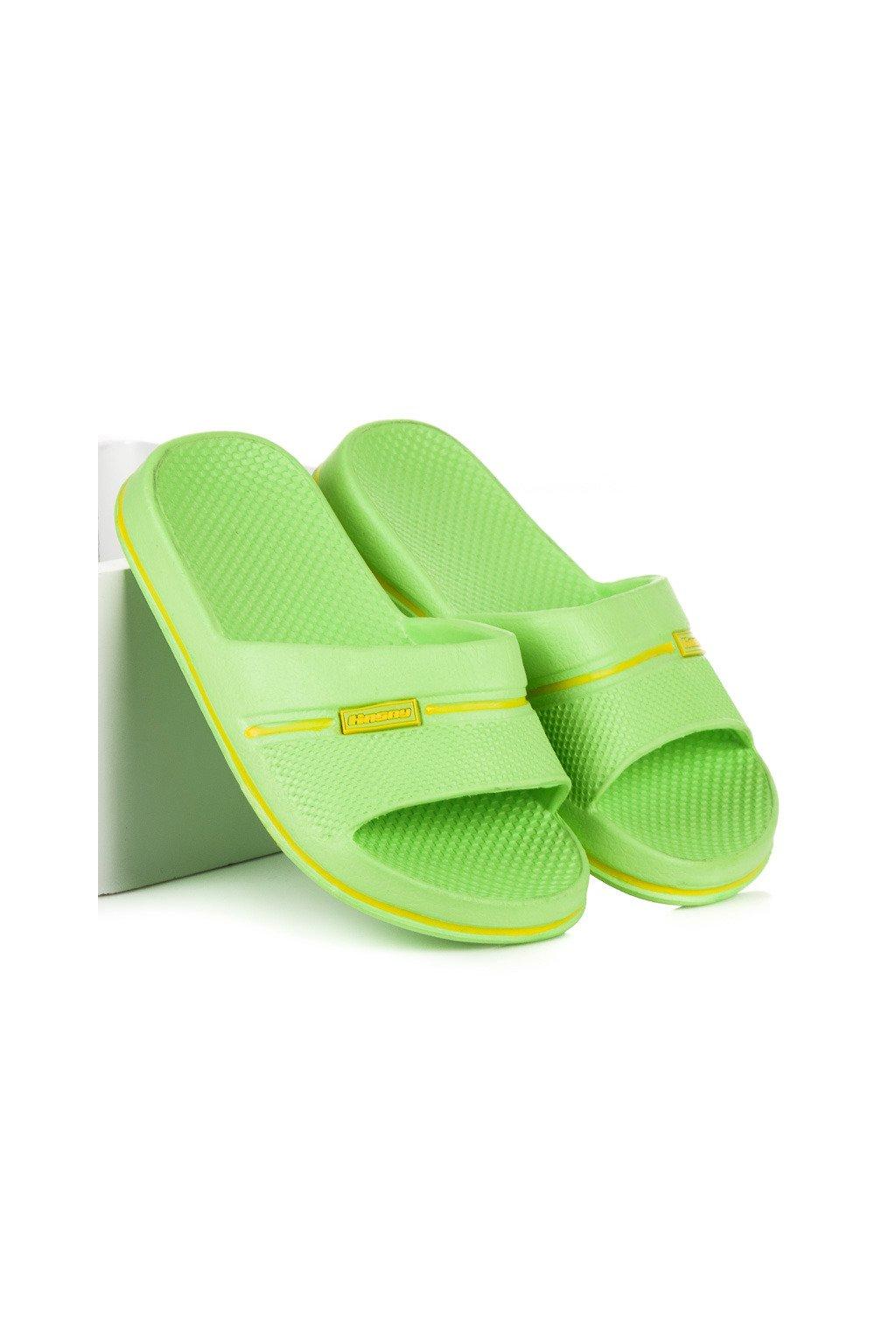 Detské zelené šľapky K806GR  8befa27067