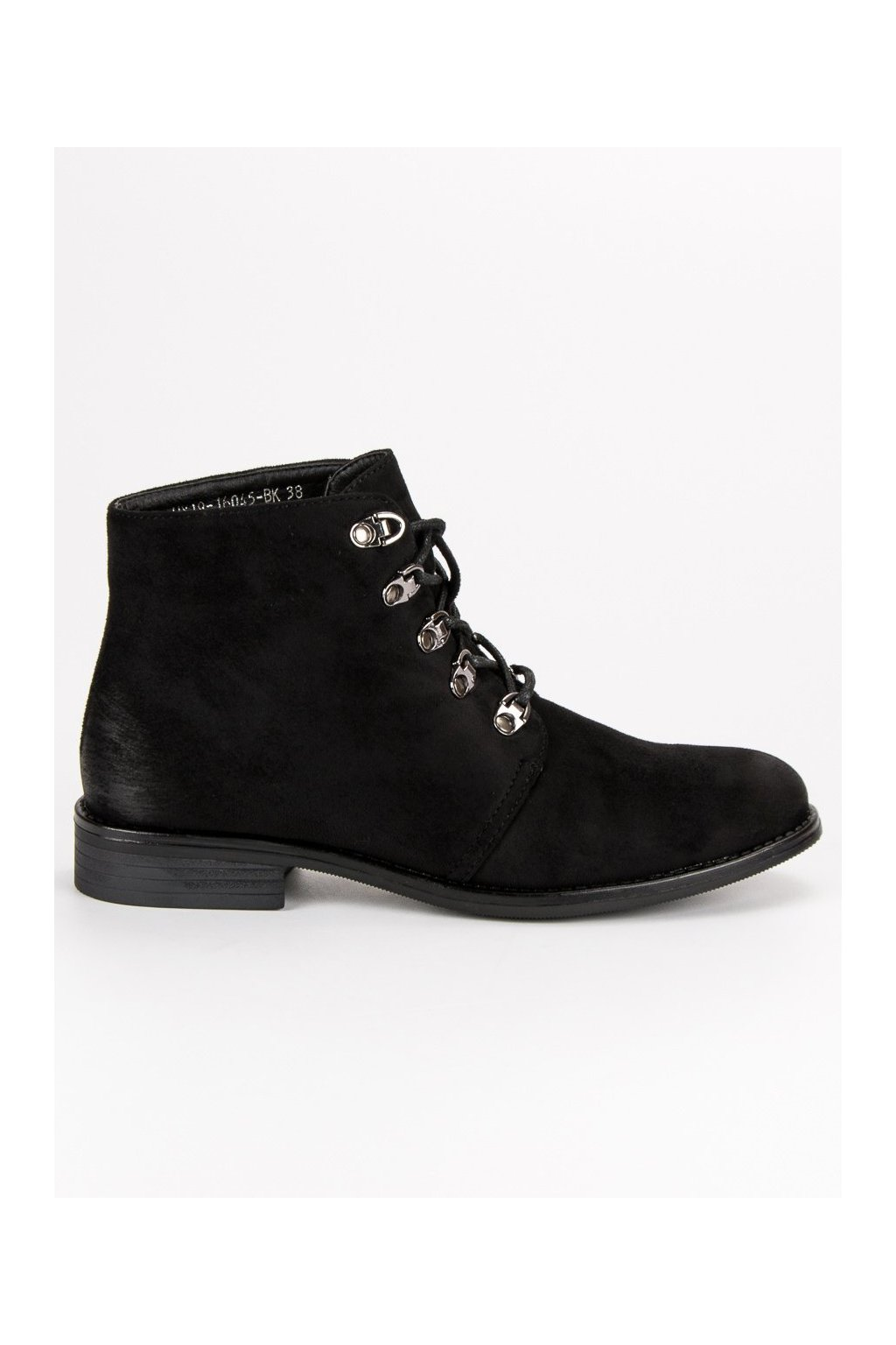 Čierne dámske topánky na plochom opätku Vinceza HX19-16045B