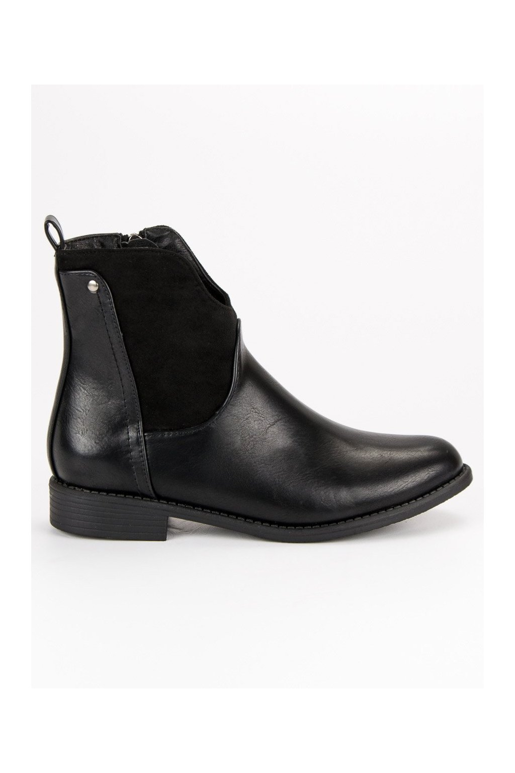 Dámske štýlové topánky na jeseň čierne Filippo  d6d6f7090dd