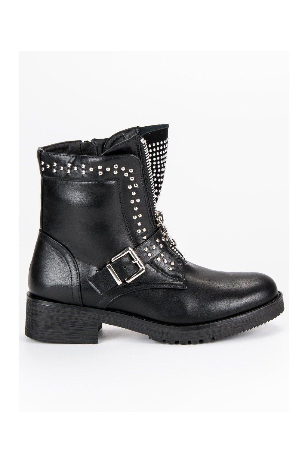 0951d98350845 Čierne dámske workery topánky na jeseň | NAJ.SK