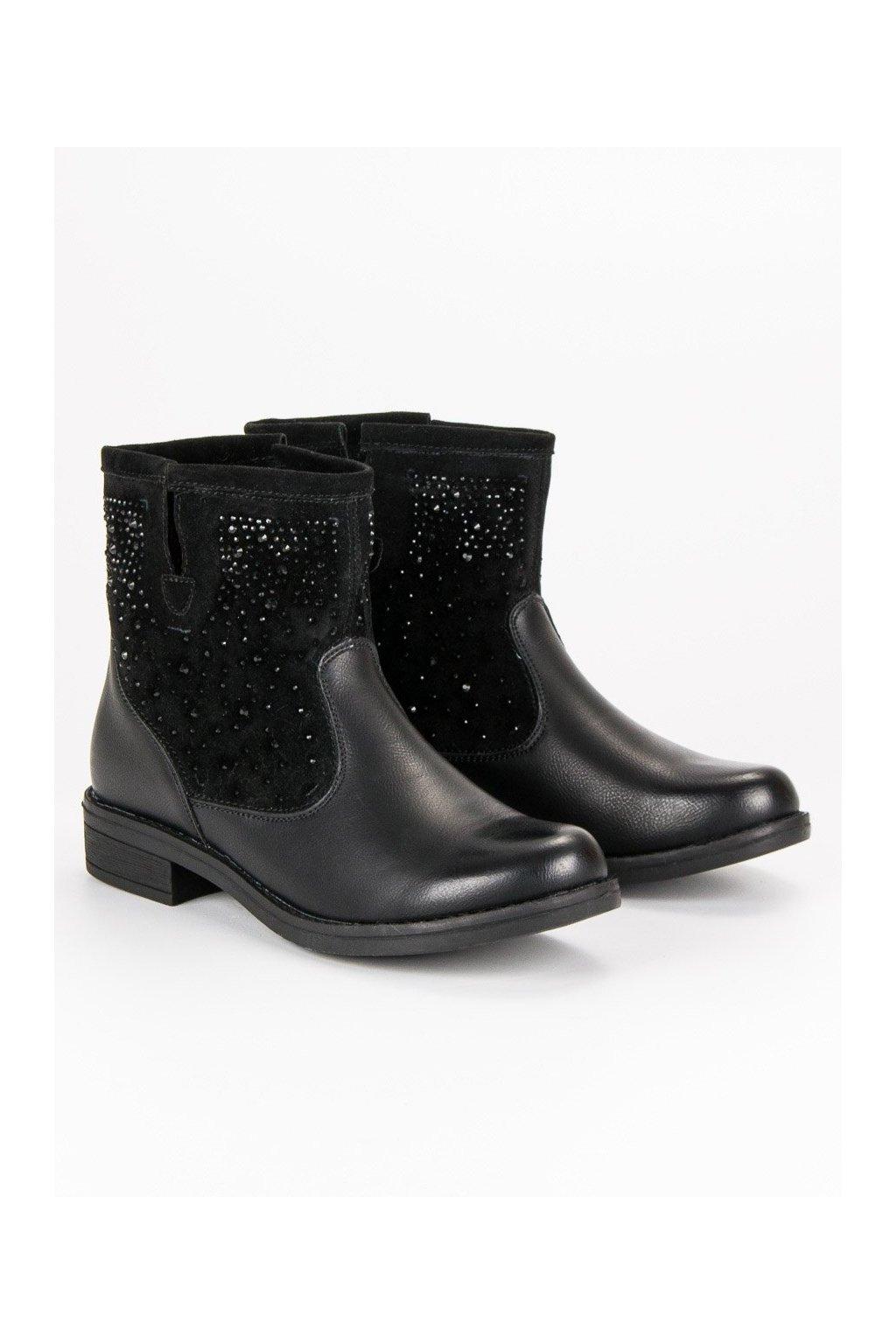 Čierne jesenné topánky vsuvky  e1bb340bcf7