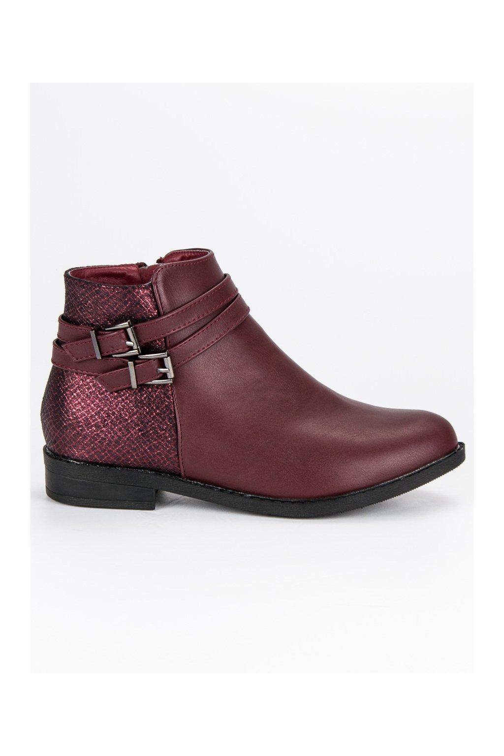 099dec5c6bce Červené topánky s prackou na nízkom opätku Anesia Paris