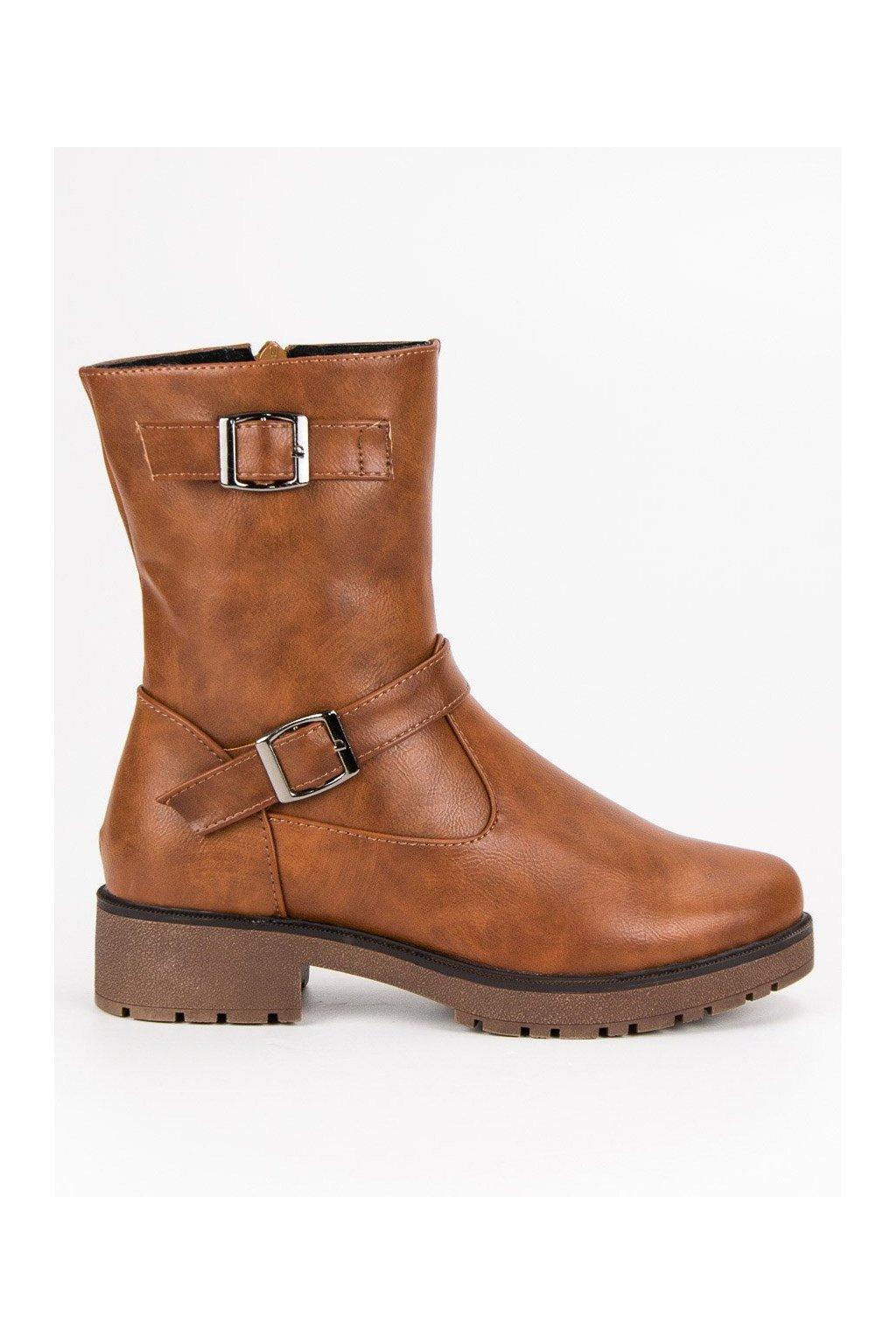 Béžové topánky workery zateplené