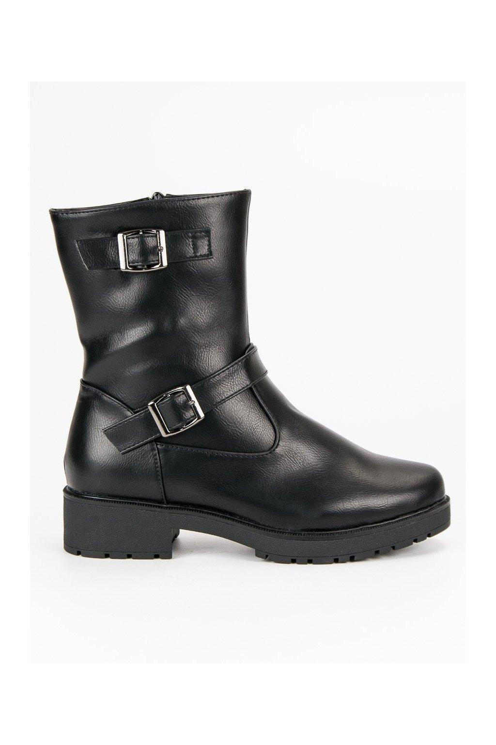 Čierne topánky workery zateplené