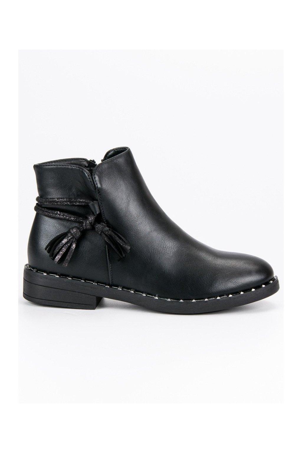 Ploché čierne topánky na zimu Filippo  aed7593972