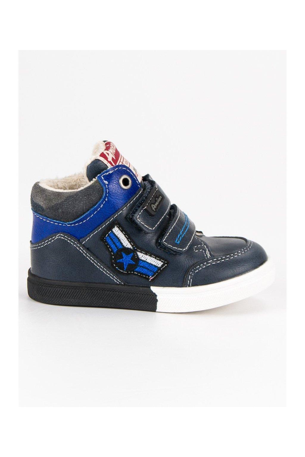 Detské modré zateplené tenisky American Club  ee2dd23d045