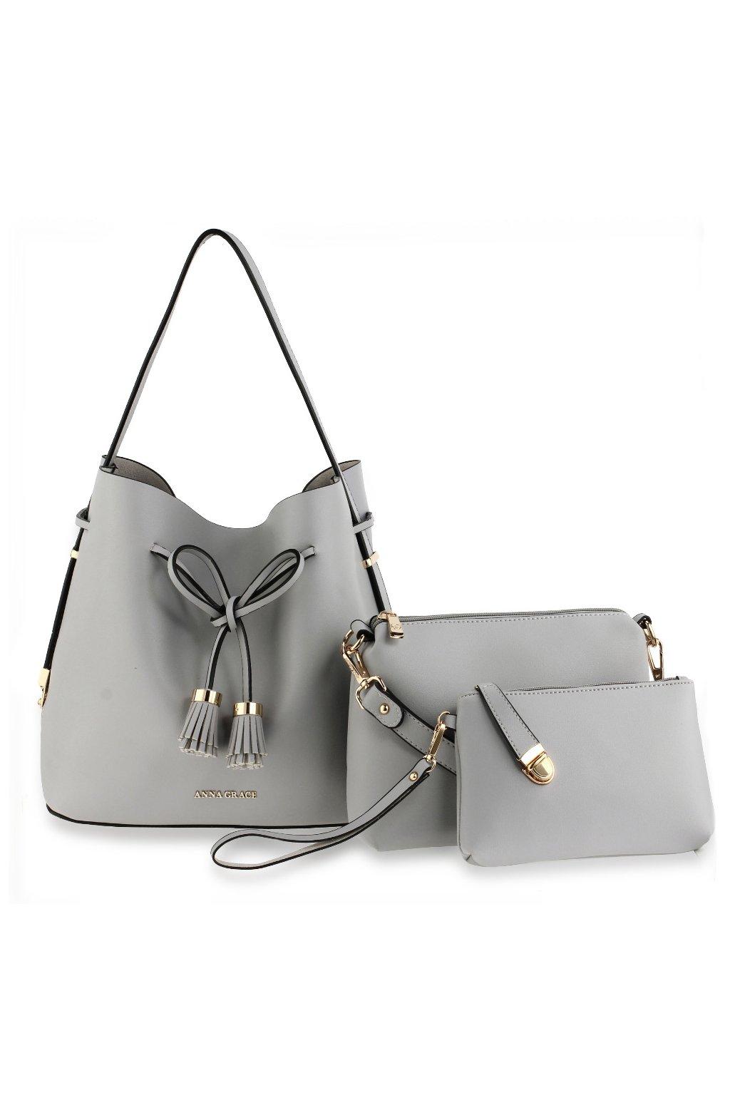 Kabelka na rameno Tiffany sivá AG00656