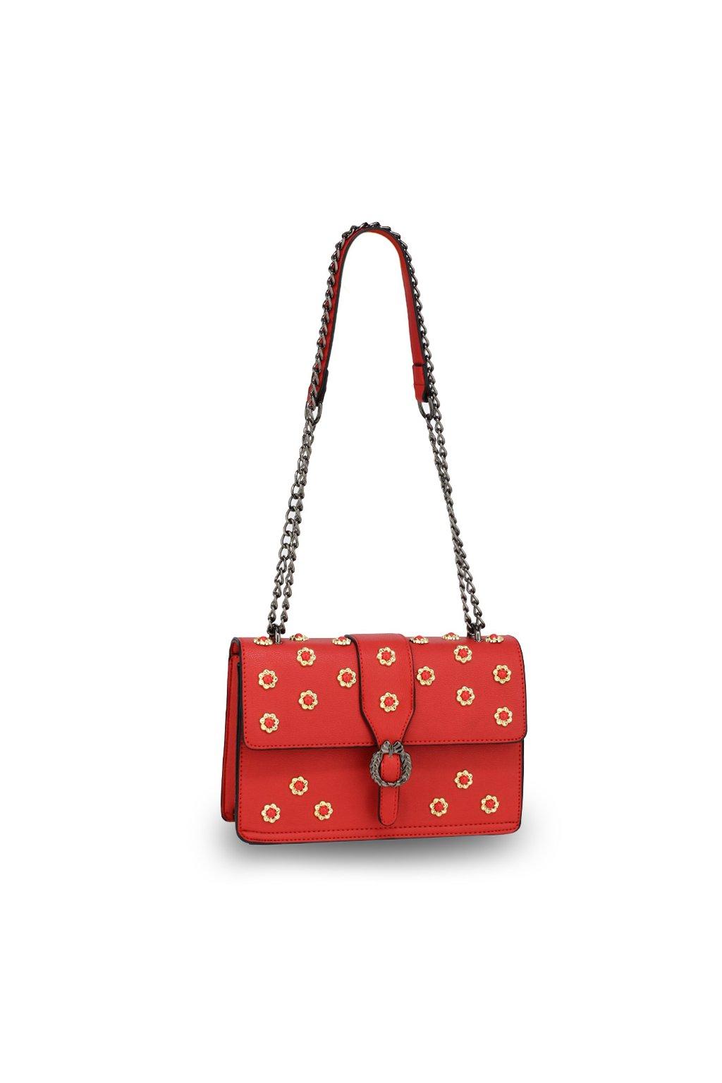 Crossbody kabelka červená Jessica AG00630 ceb30bc3374